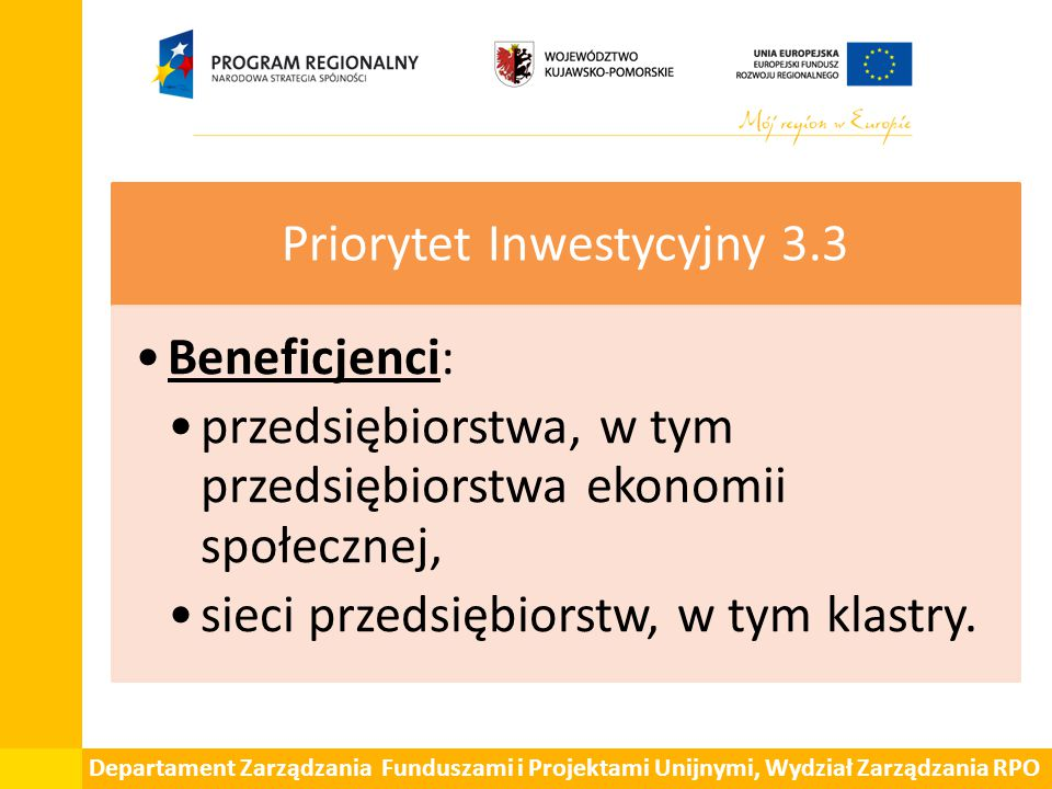 Priorytet Inwestycyjny 3.3