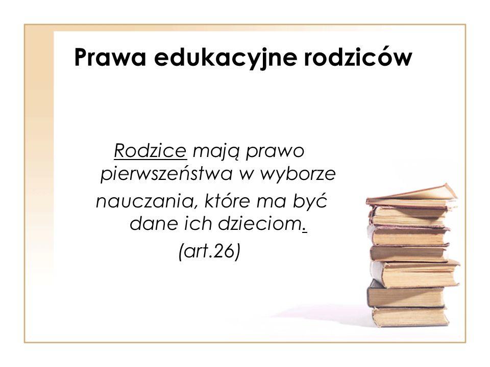 Prawa edukacyjne rodziców