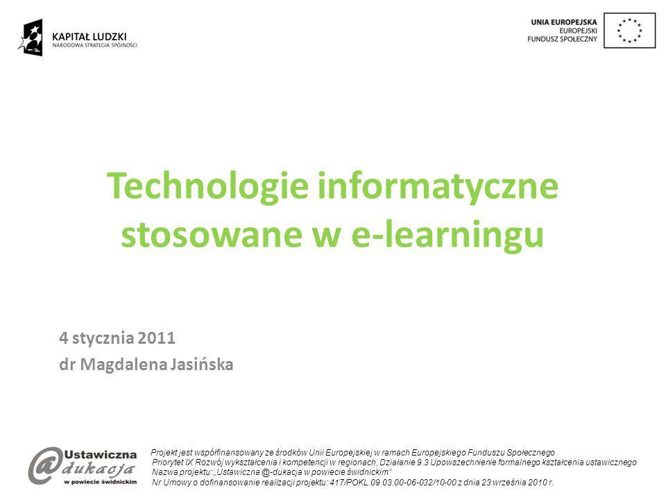 Technologie informatyczne stosowane w e-learningu