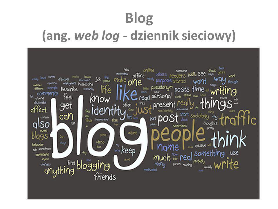 Blog (ang. web log - dziennik sieciowy)