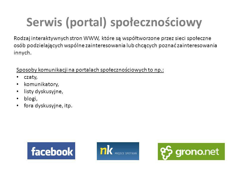 Serwis (portal) społecznościowy