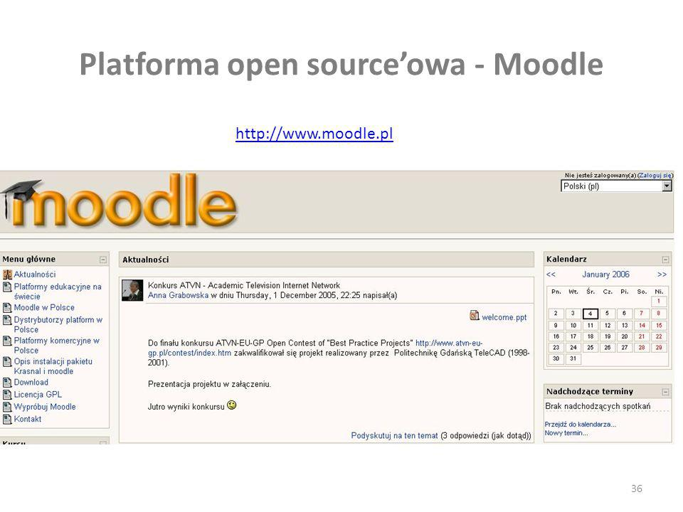 Platforma open source'owa - Moodle