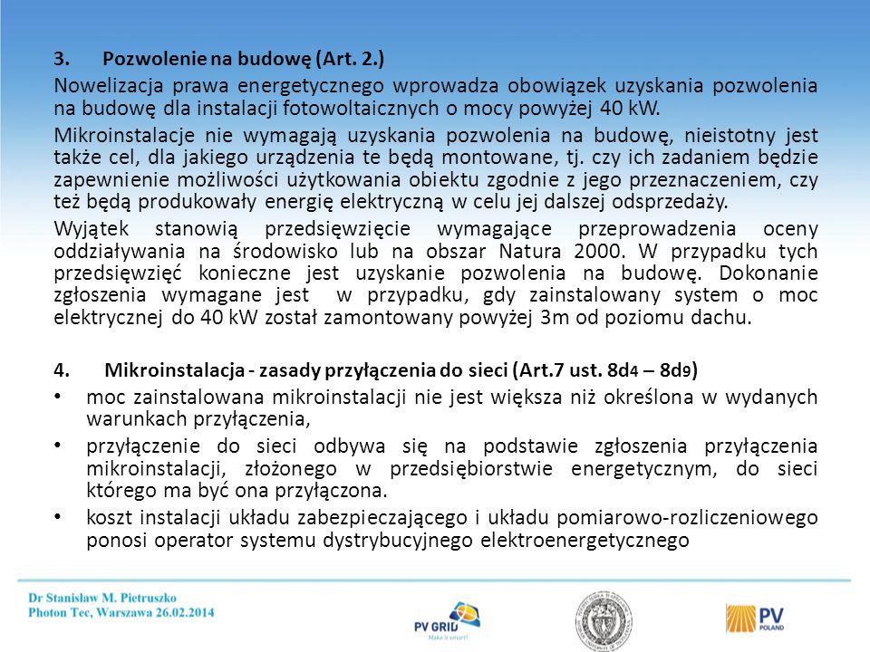 Opłaty za przyłączenie OZE do sieci (art. 7 ust. 8 pkt. 3)