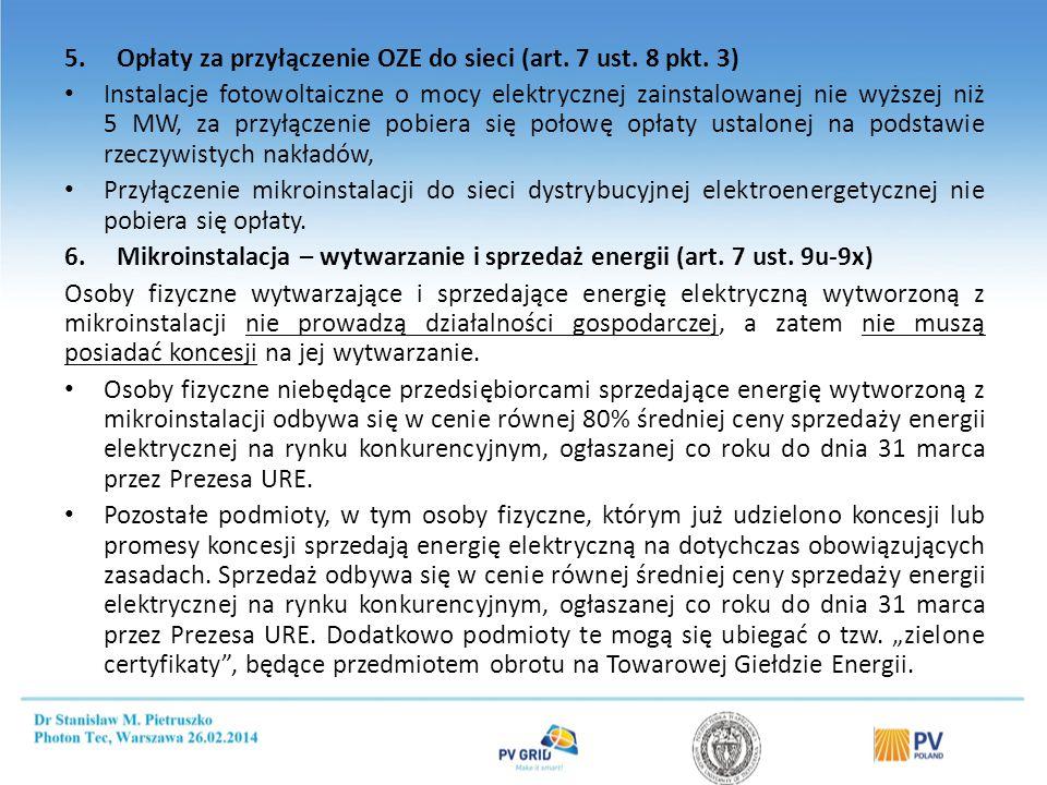 Mikroinstalacja – obowiązki właściciela ( Art. 7 ust. 9w)