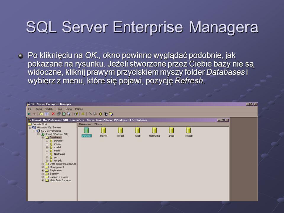 SQL Server Enterprise Managera
