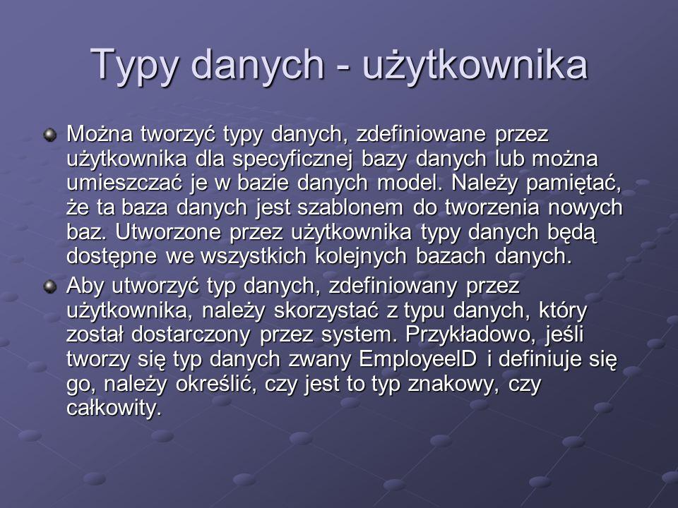 Typy danych - użytkownika