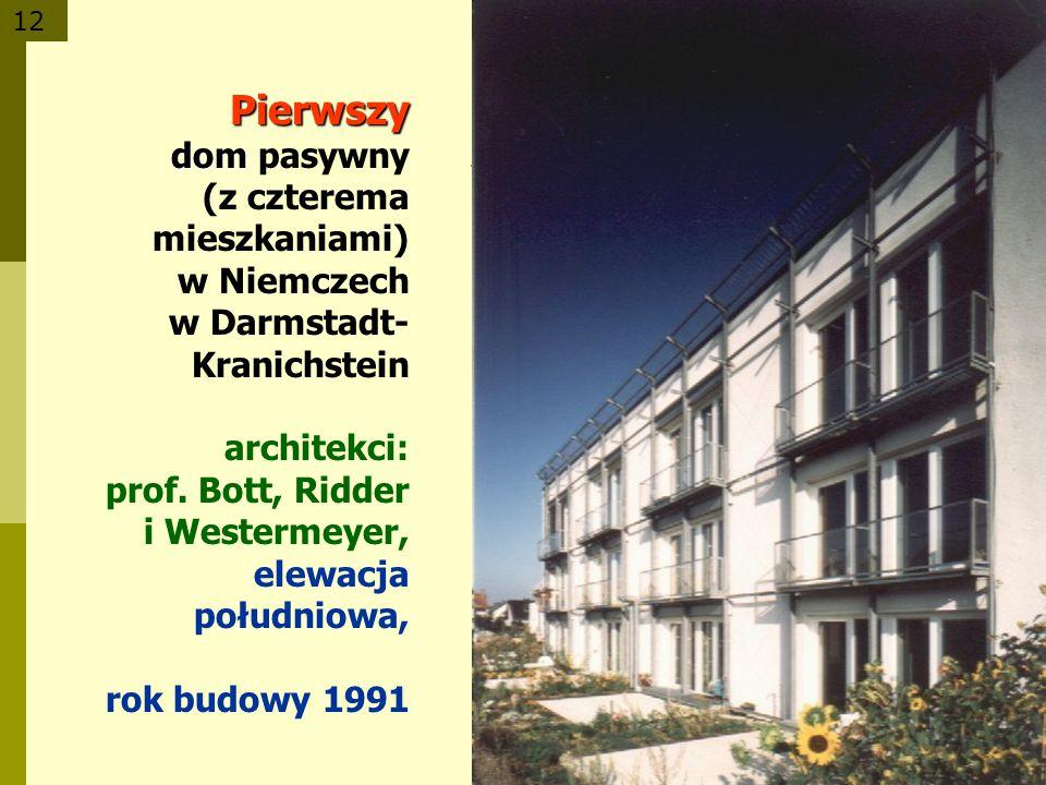 Pierwszy dom pasywny (z czterema mieszkaniami)