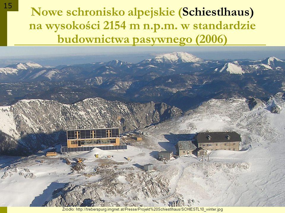 Nowe schronisko alpejskie (Schiestlhaus) na wysokości 2154 m n. p. m