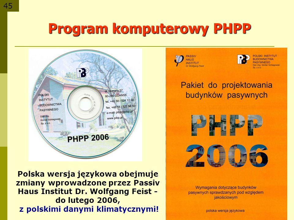 Program komputerowy PHPP