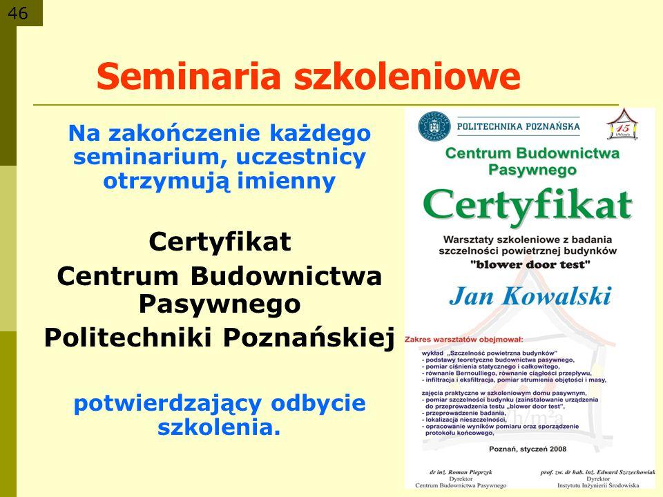 Seminaria szkoleniowe