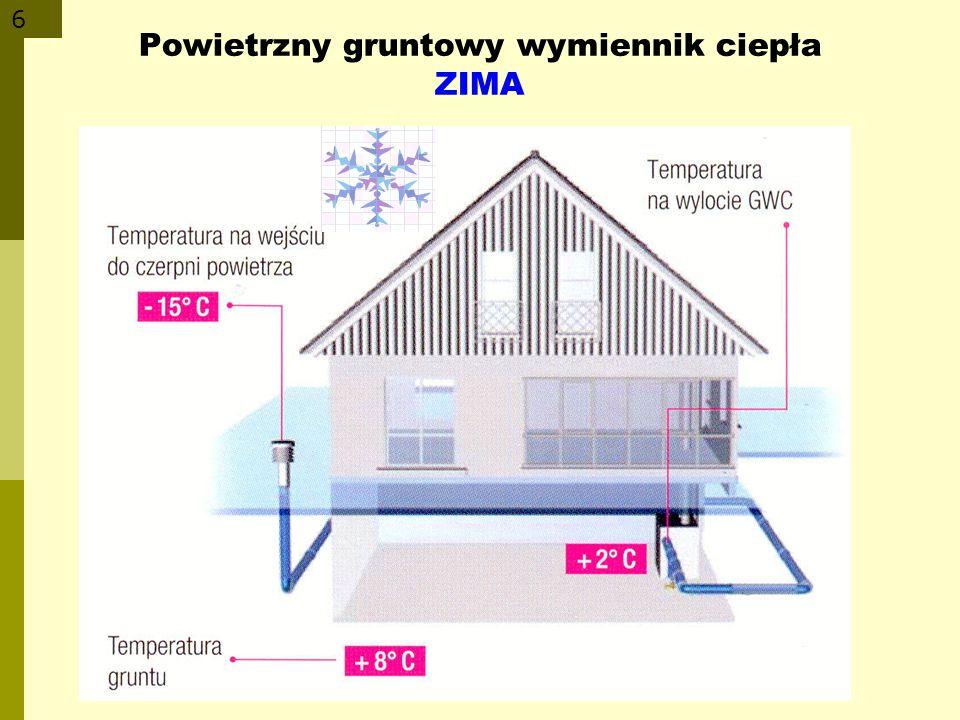 Powietrzny gruntowy wymiennik ciepła ZIMA