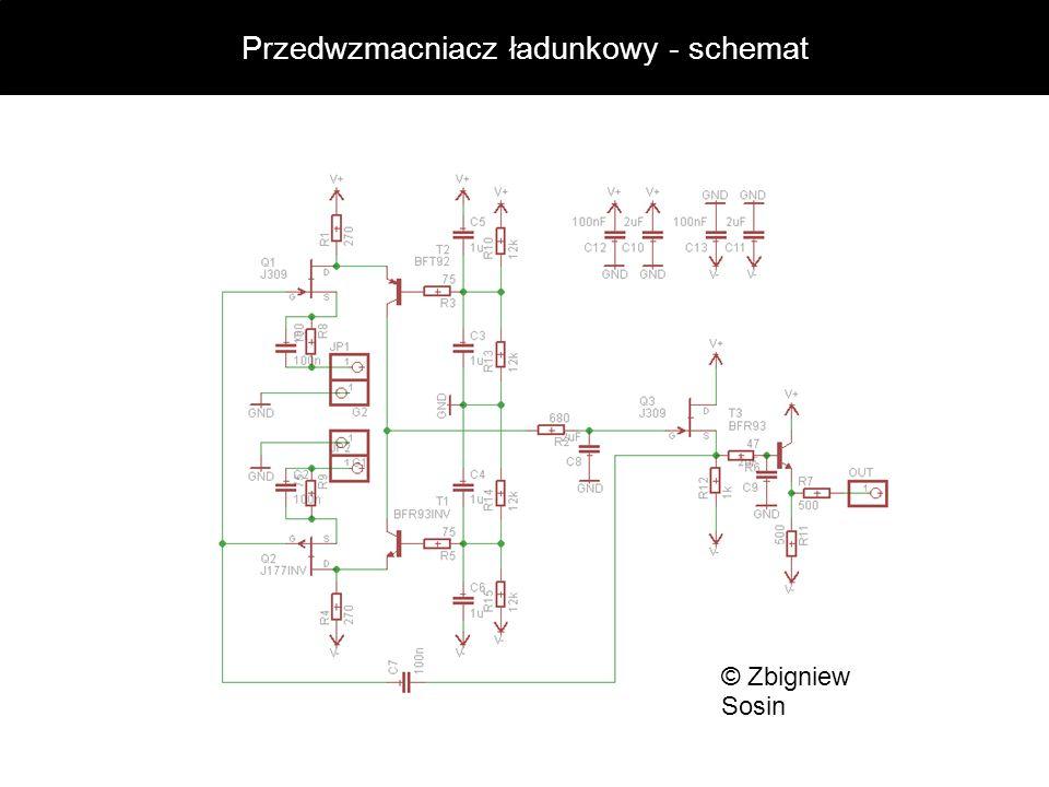 Przedwzmacniacz ładunkowy - schemat