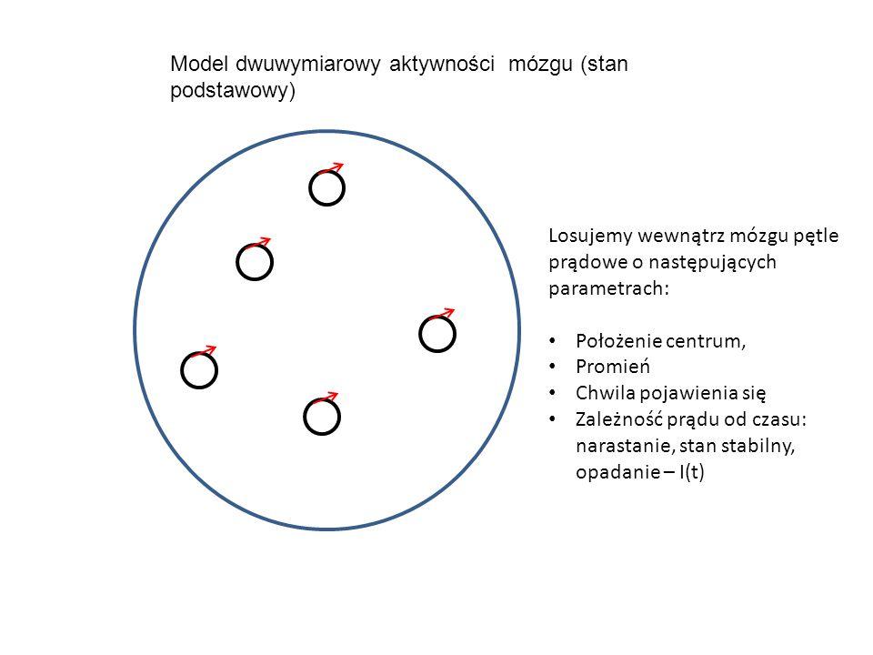 Model dwuwymiarowy aktywności mózgu (stan podstawowy)