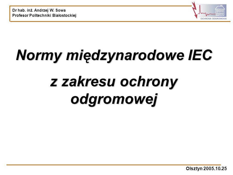 Normy międzynarodowe IEC z zakresu ochrony odgromowej