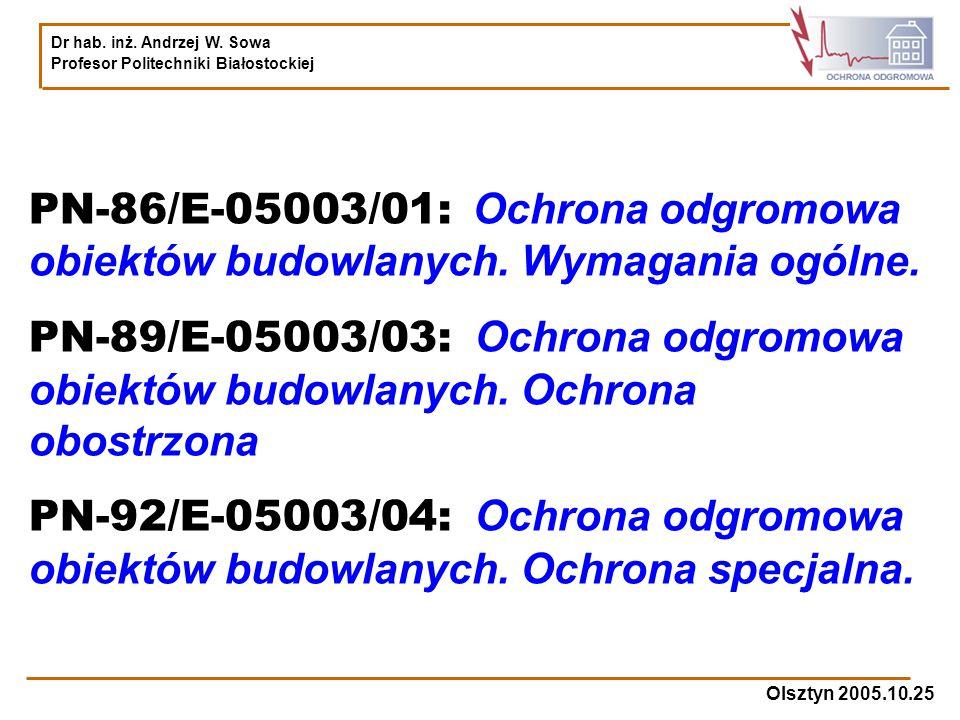 PN-86/E-05003/01: Ochrona odgromowa obiektów budowlanych