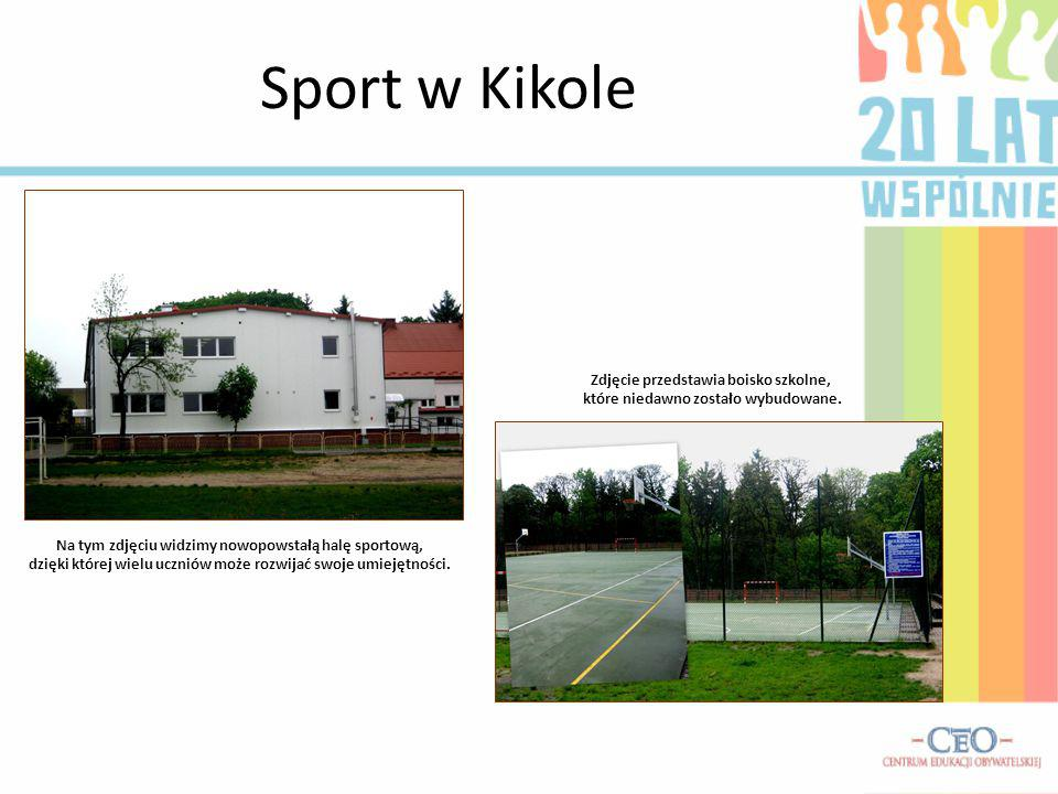 Sport w Kikole Zdjęcie przedstawia boisko szkolne,
