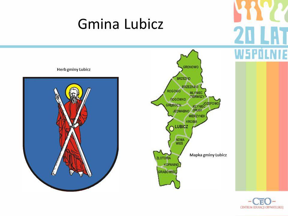 Gmina Lubicz Herb gminy Lubicz Mapka gminy Lubicz