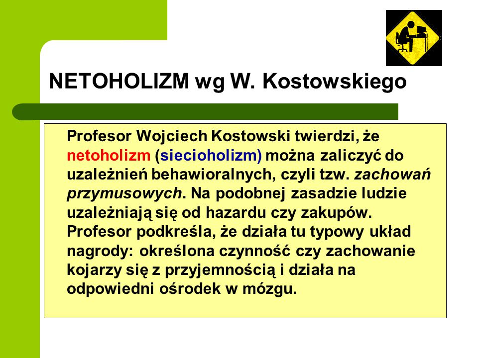 NETOHOLIZM wg W. Kostowskiego