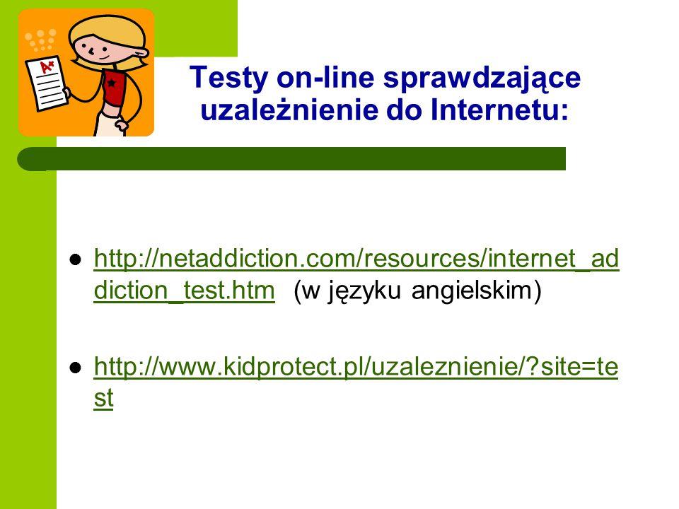 Testy on-line sprawdzające uzależnienie do Internetu: