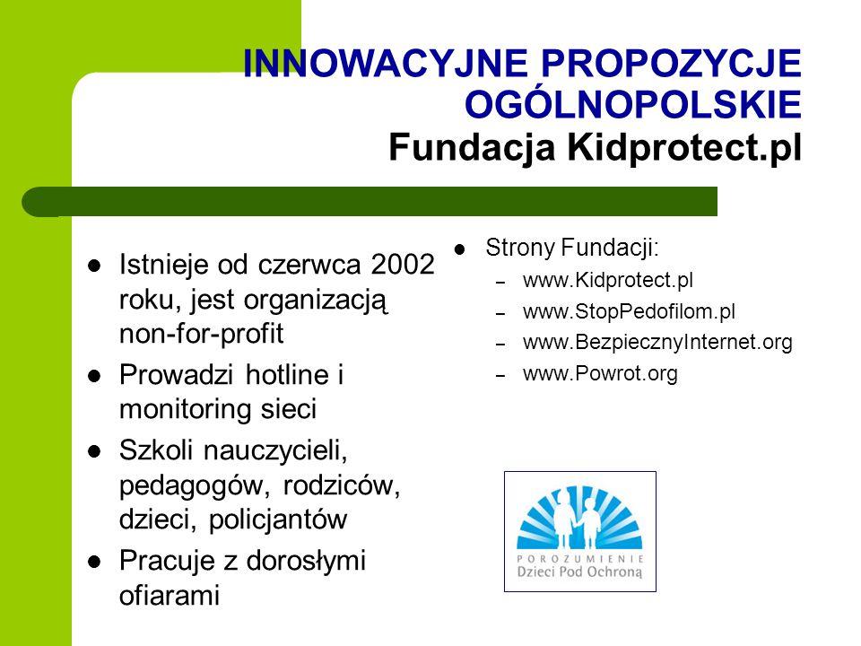 INNOWACYJNE PROPOZYCJE OGÓLNOPOLSKIE Fundacja Kidprotect.pl