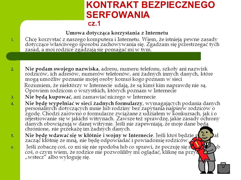 KONTRAKT BEZPIECZNEGO SERFOWANIA cz.1