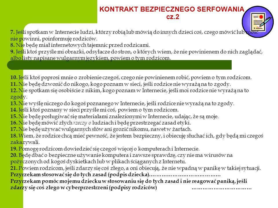 KONTRAKT BEZPIECZNEGO SERFOWANIA cz.2