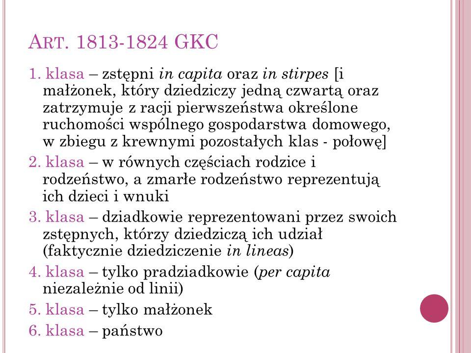 Art. 1813-1824 GKC