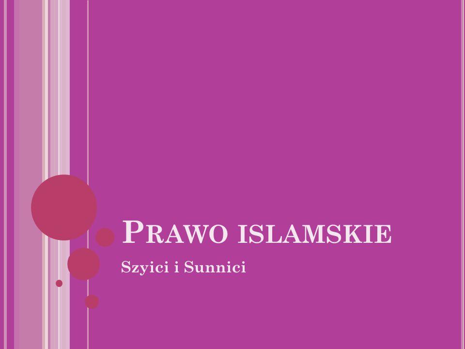 Prawo islamskie Szyici i Sunnici