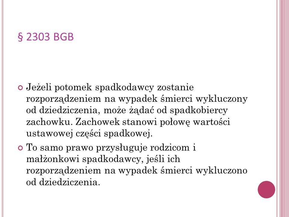 § 2303 BGB