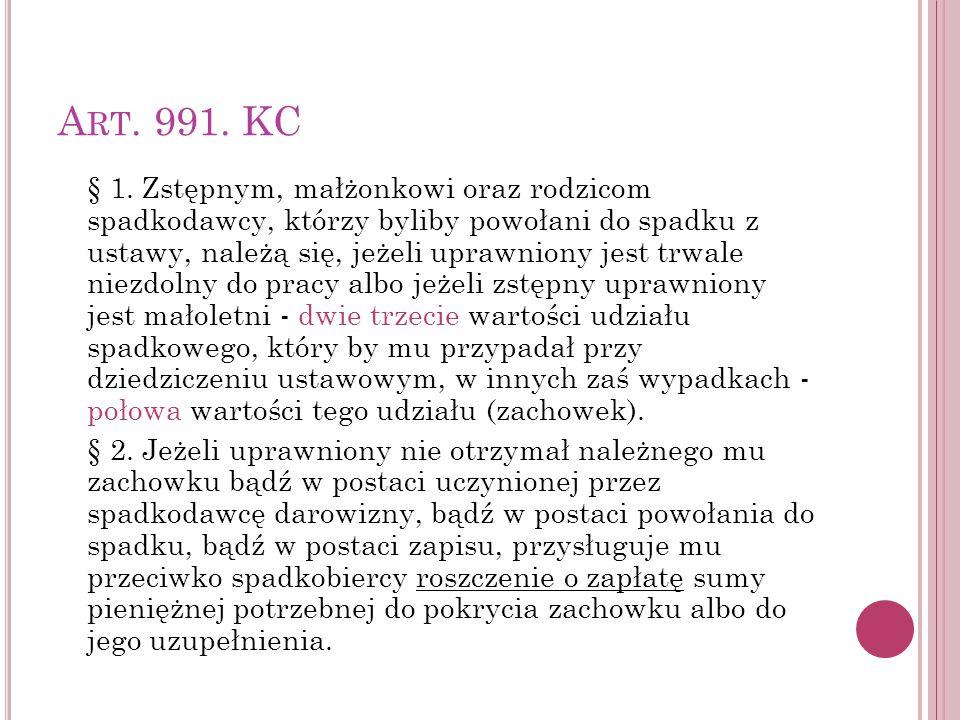 Art. 991. KC