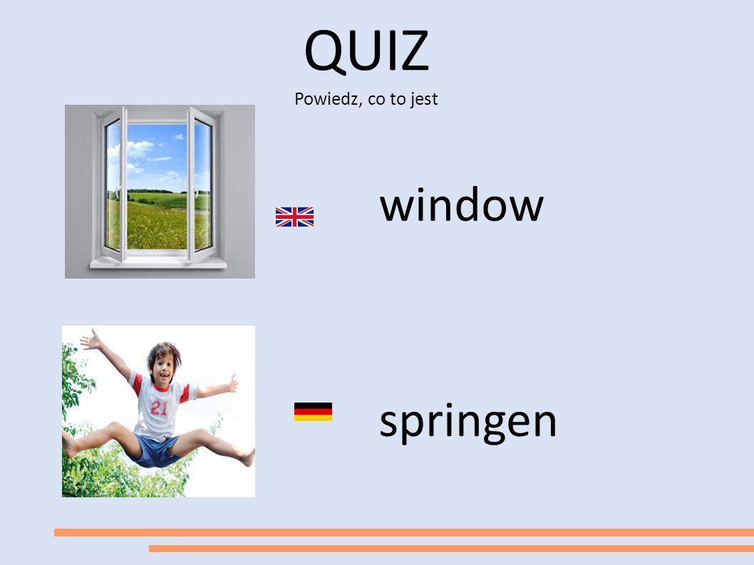 QUIZ Powiedz, co to jest window springen