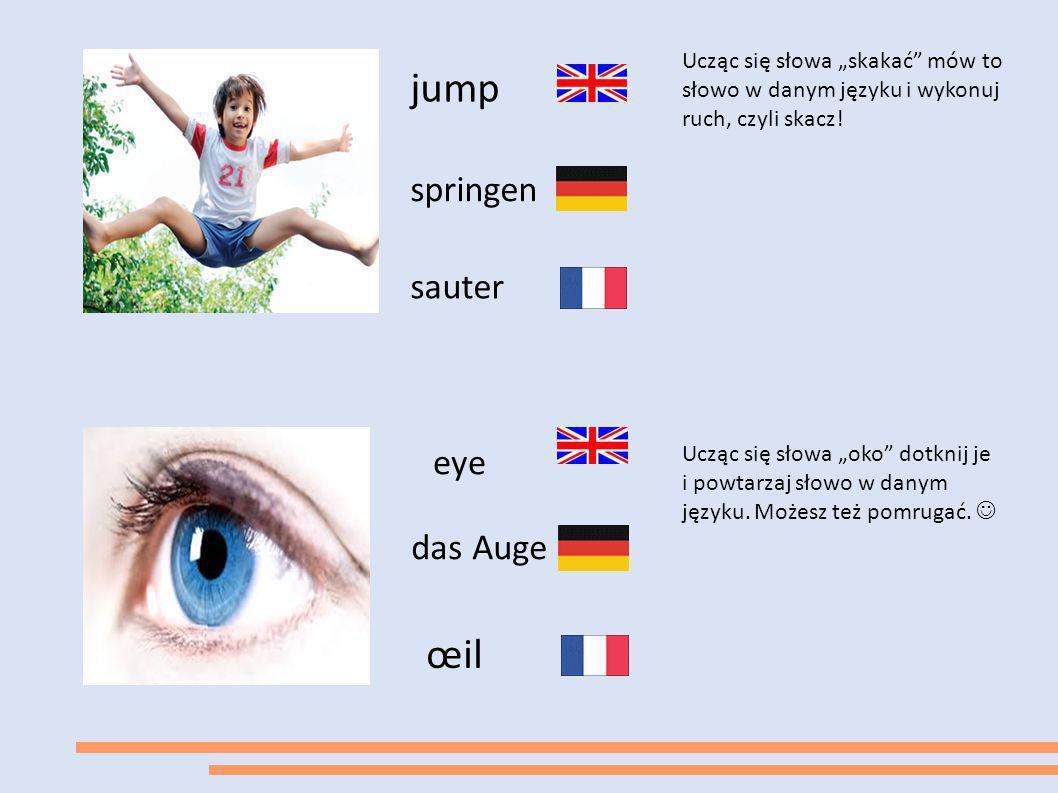 jump œil springen sauter eye das Auge
