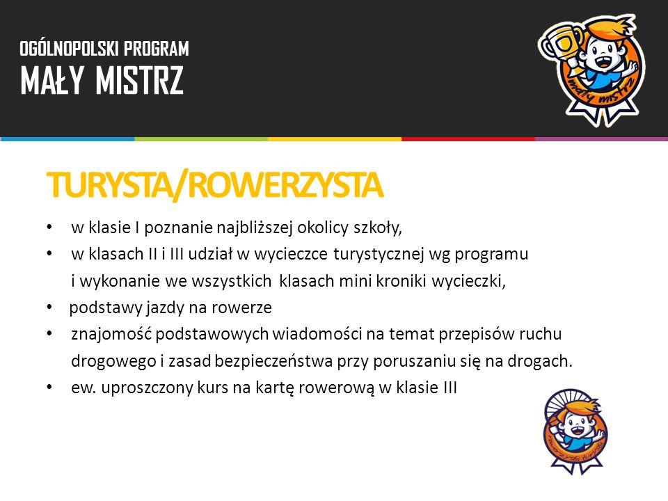 TURYSTA/ROWERZYSTA MAŁY MISTRZ OGÓLNOPOLSKI PROGRAM