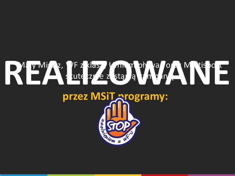 REALIZOWANE przez MSiT programy: