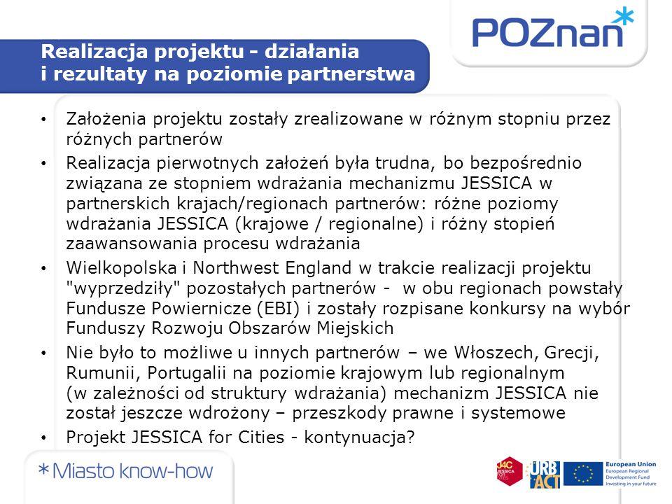 Realizacja projektu - działania i rezultaty na poziomie partnerstwa