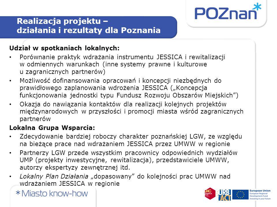 Realizacja projektu – działania i rezultaty dla Poznania