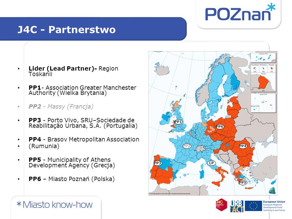 J4C - Partnerstwo Lider (Lead Partner)- Region Toskanii