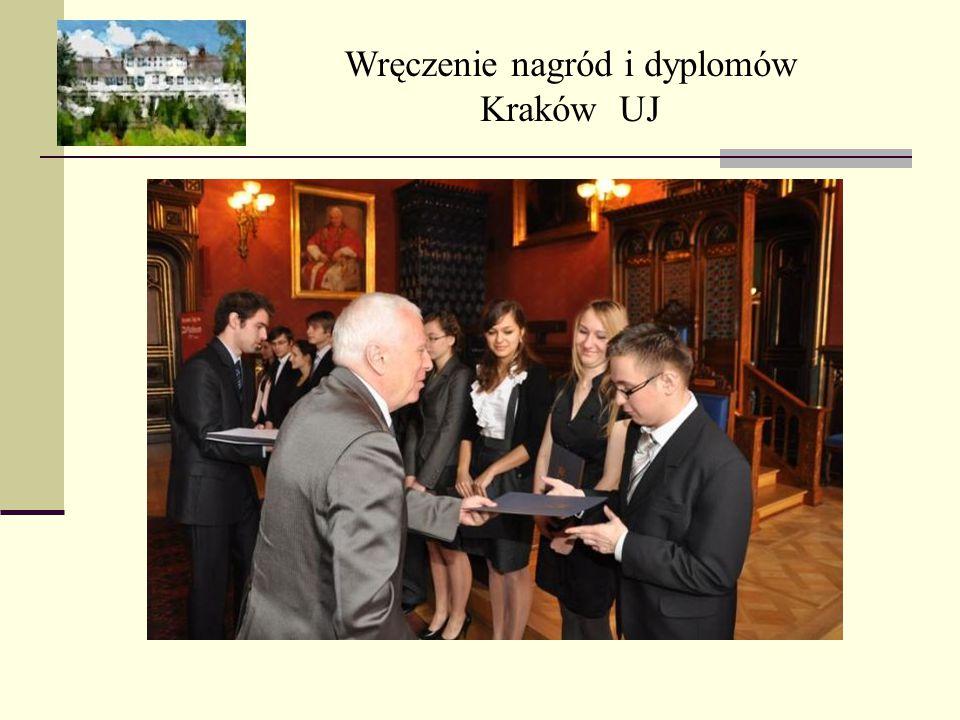 Wręczenie nagród i dyplomów Kraków UJ
