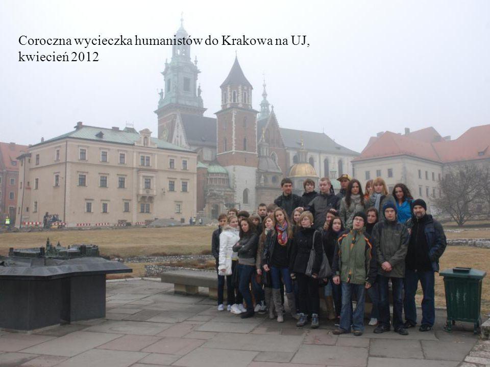 Coroczna wycieczka humanistów do Krakowa na UJ, kwiecień 2012