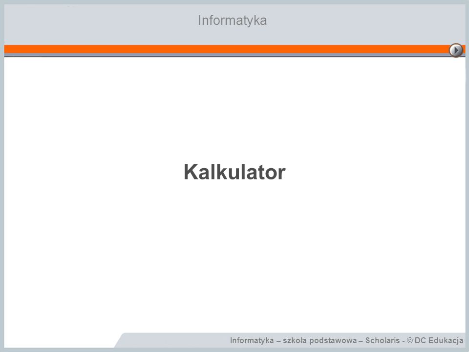 Informatyka Kalkulator