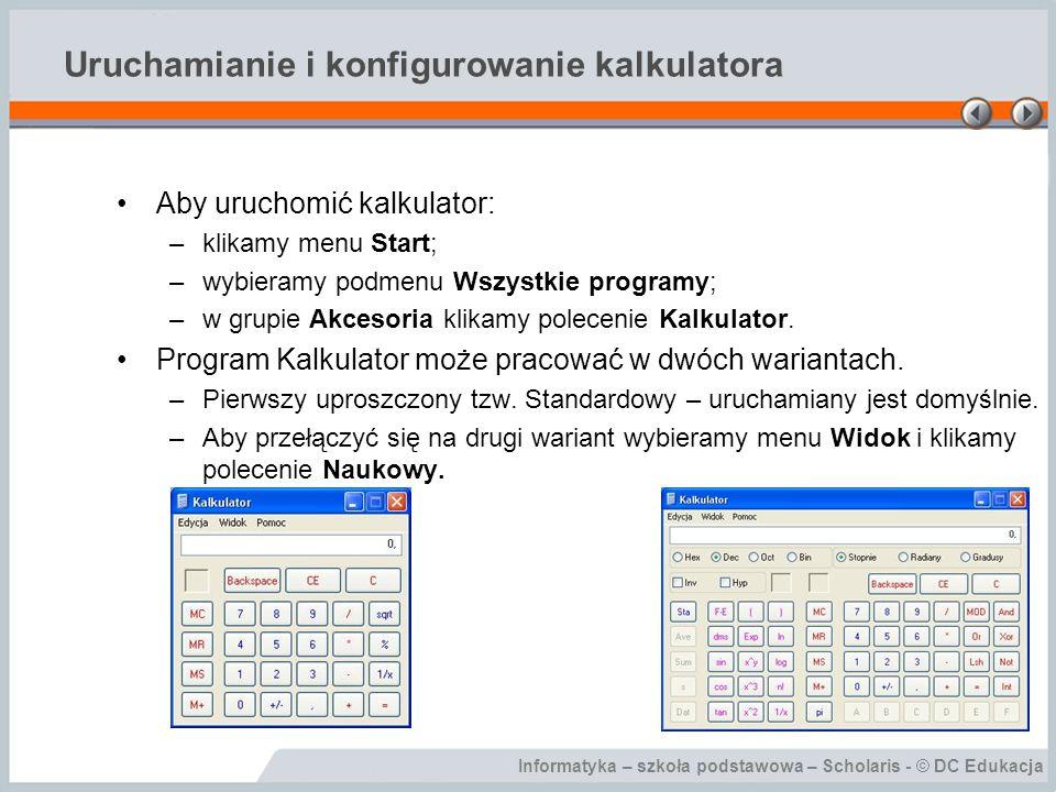 Uruchamianie i konfigurowanie kalkulatora