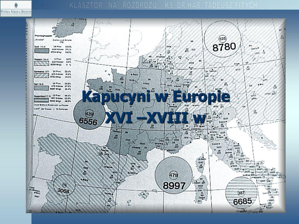Kapucyni w Europie XVI –XVIII w