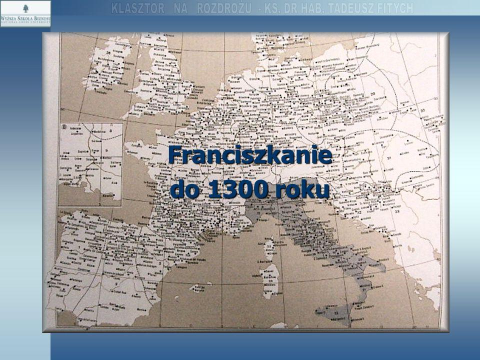 Franciszkanie do 1300 roku
