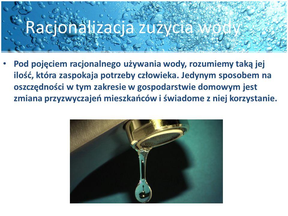 Racjonalizacja zużycia wody