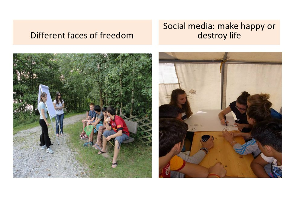 Different faces of freedom Social media: make happy or destroy life