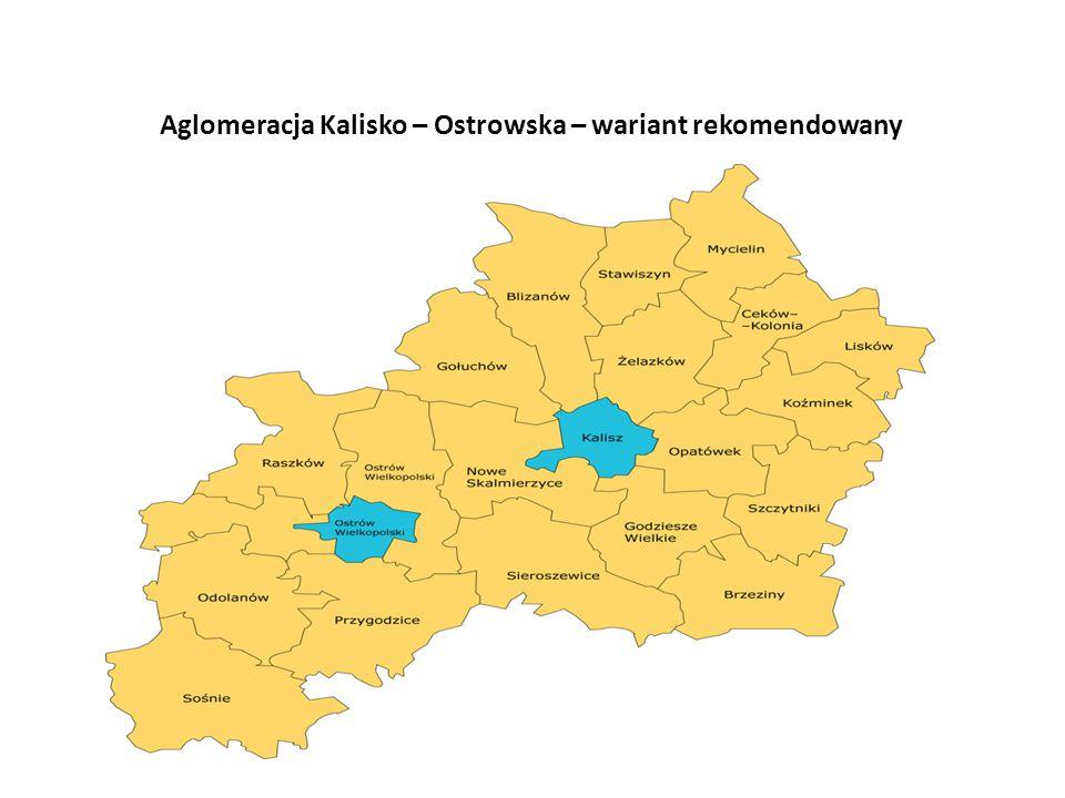 Aglomeracja Kalisko – Ostrowska – wariant rekomendowany