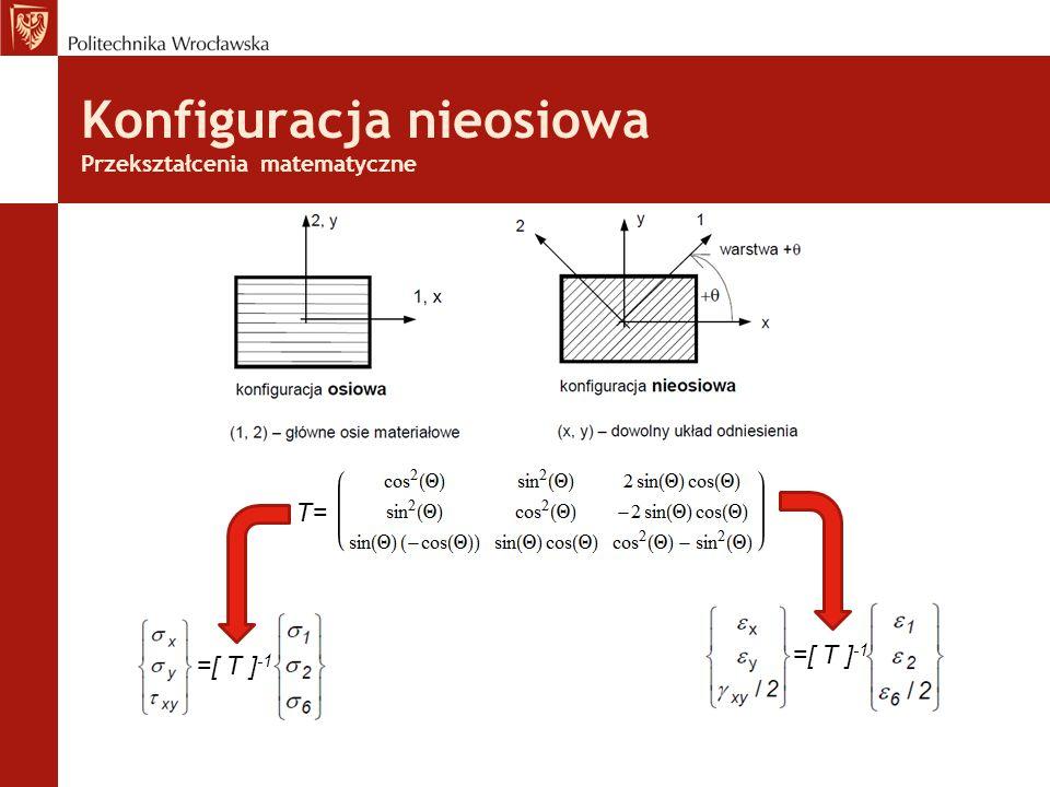 Konfiguracja nieosiowa Przekształcenia matematyczne