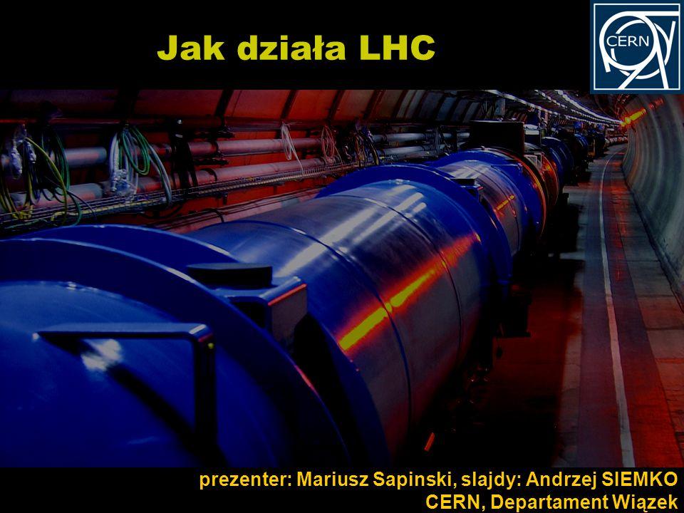 Jak działa LHC prezenter: Mariusz Sapinski, slajdy: Andrzej SIEMKO