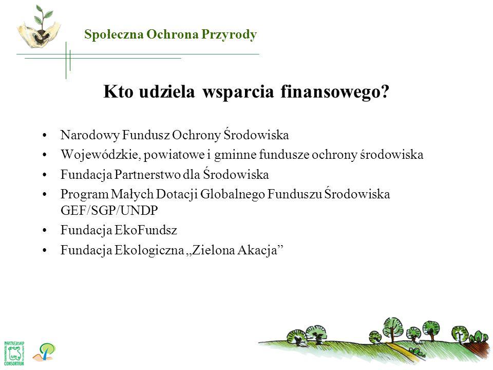 Kto udziela wsparcia finansowego