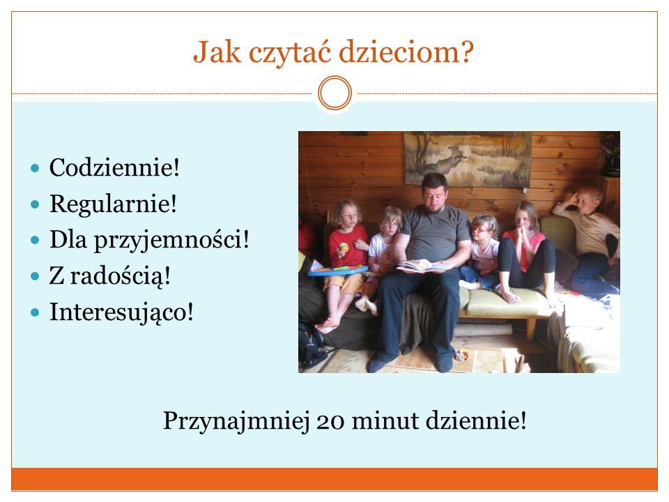 Jak czytać dzieciom Codziennie! Regularnie! Dla przyjemności!